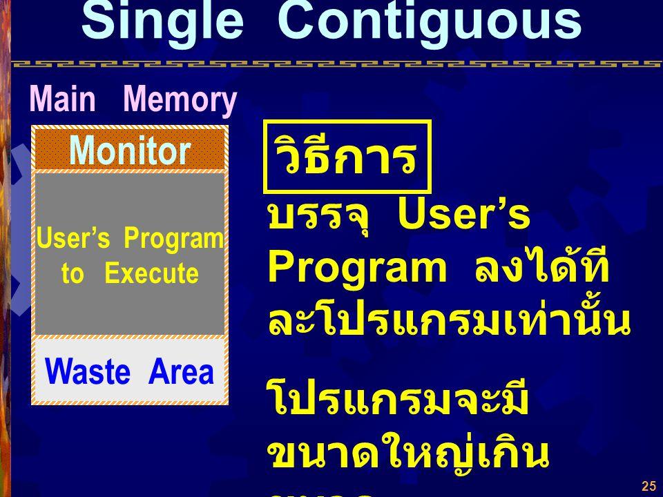 Single Contiguous วิธีการ