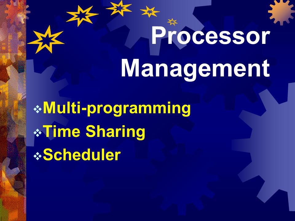 Multi-programming Time Sharing Scheduler