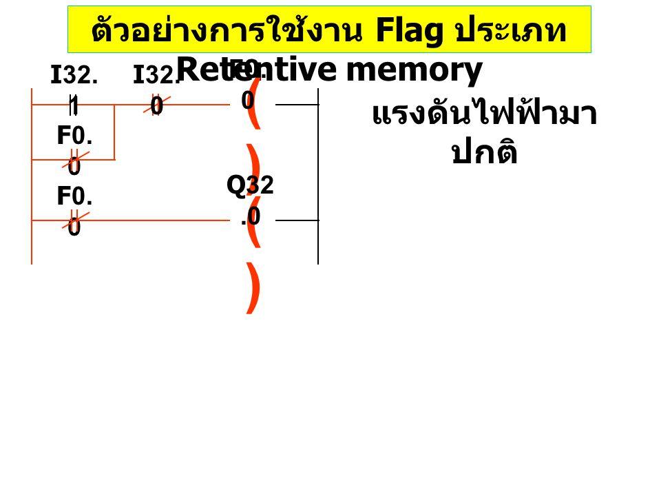 ตัวอย่างการใช้งาน Flag ประเภท Retentive memory