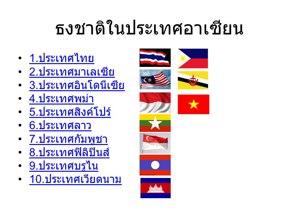 ธงชาติในประเทศอาเซียน