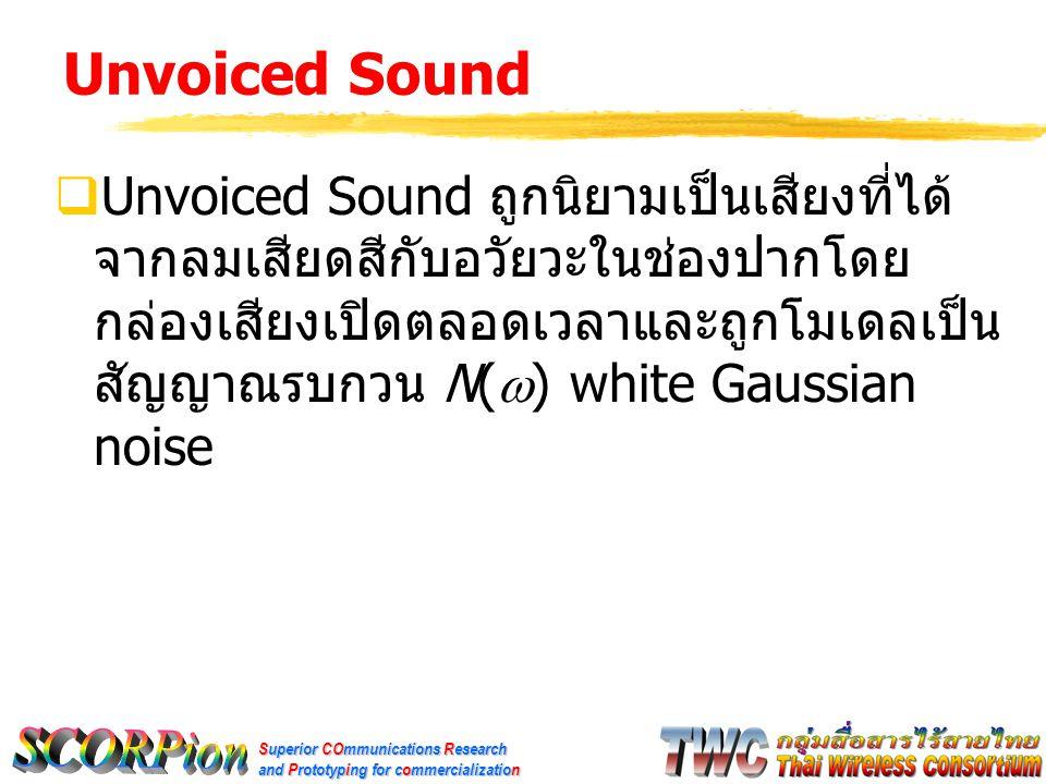 Unvoiced Sound