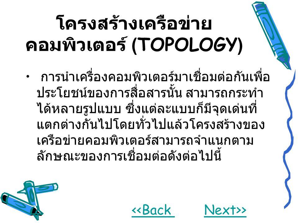 โครงสร้างเครือข่ายคอมพิวเตอร์ (TOPOLOGY)
