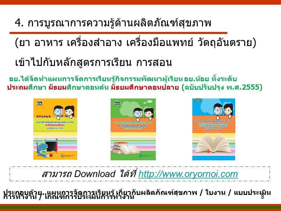 สามารถ Download ได้ที่ http://www.oryornoi.com