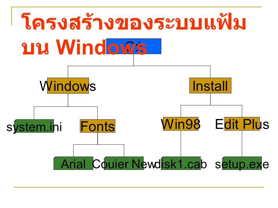 โครงสร้างของระบบแฟ้มบน Windows