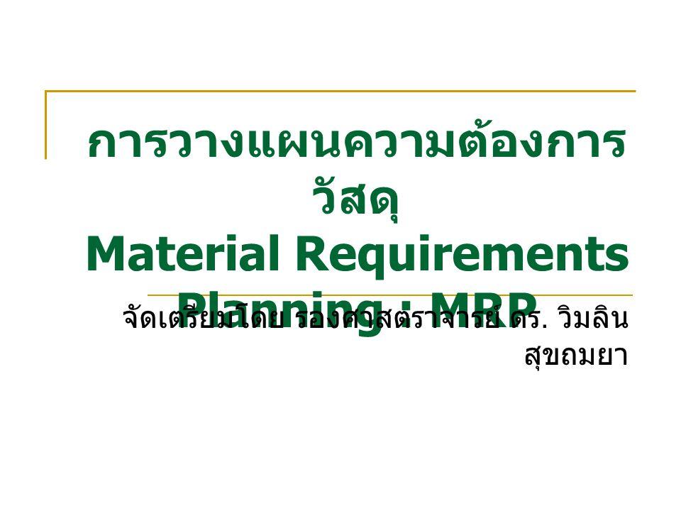 การวางแผนความต้องการวัสดุ Material Requirements Planning : MRP