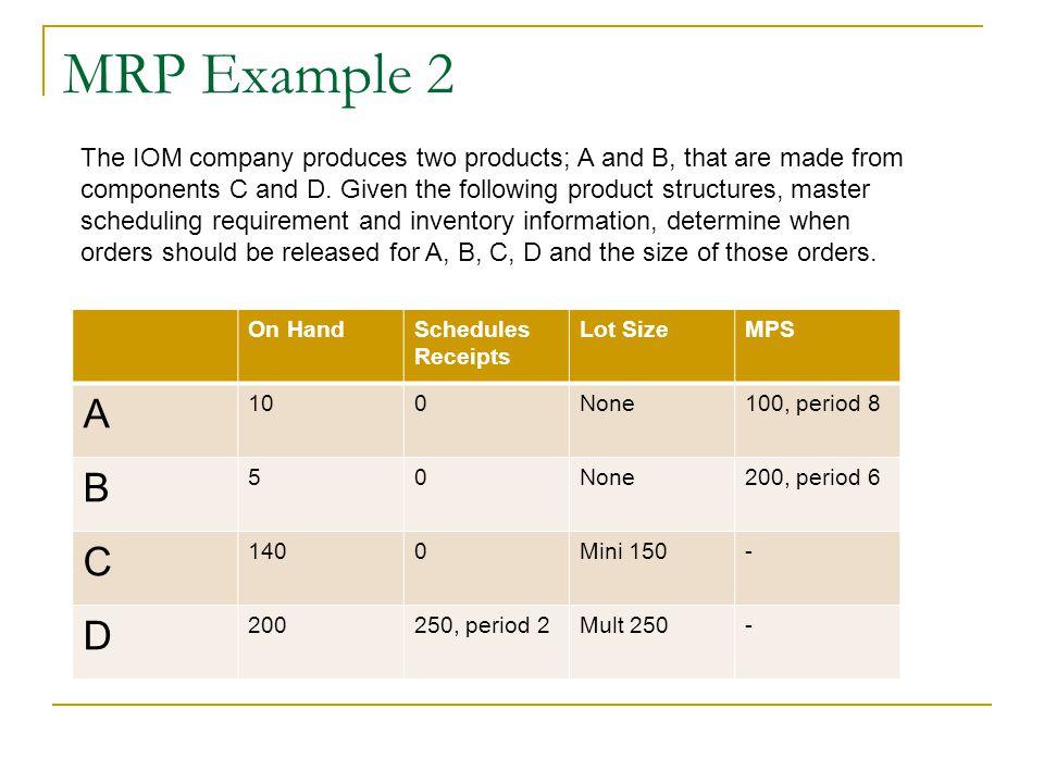 MRP Example 2