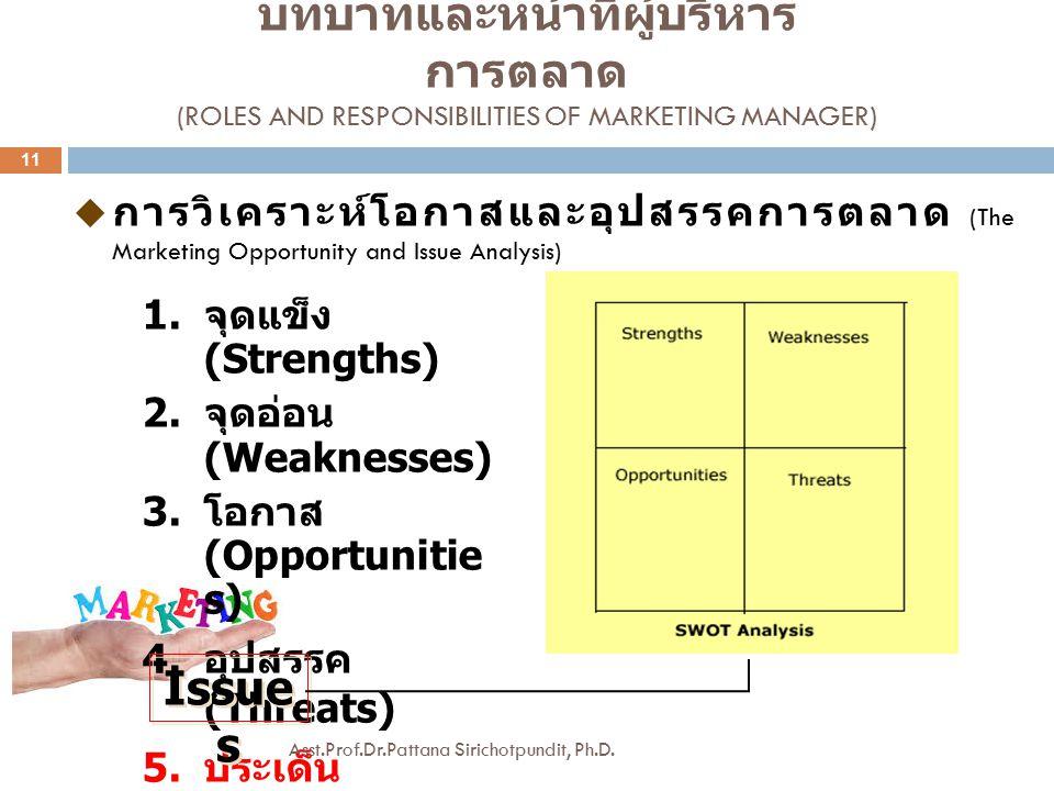 บทบาทและหน้าที่ผู้บริหารการตลาด (Roles and Responsibilities of Marketing Manager)