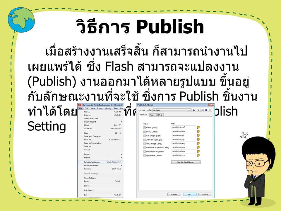 วิธีการ Publish