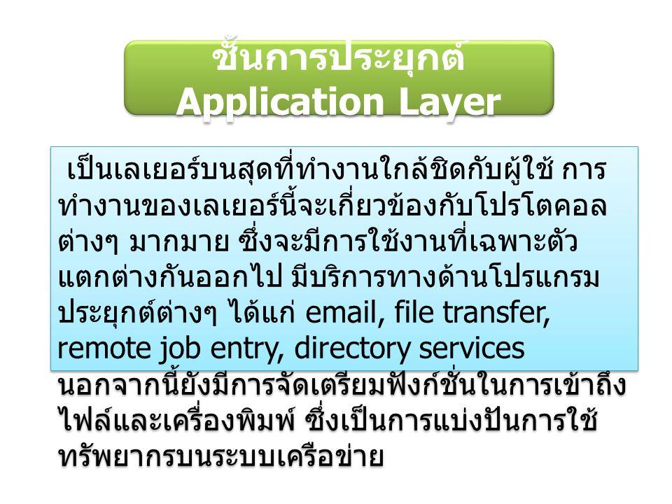 ชั้นการประยุกต์ Application Layer