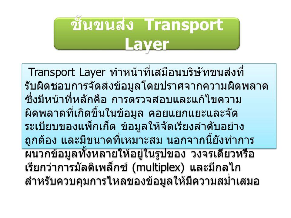 ชั้นขนส่ง Transport Layer