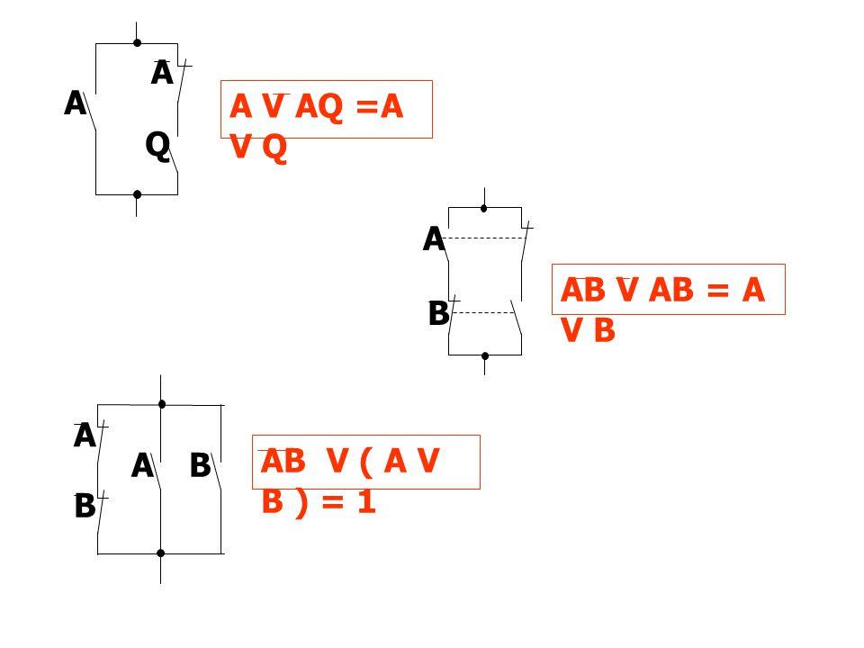 A V AQ =A V Q A Q A B AB V AB = A V B B A AB V ( A V B ) = 1