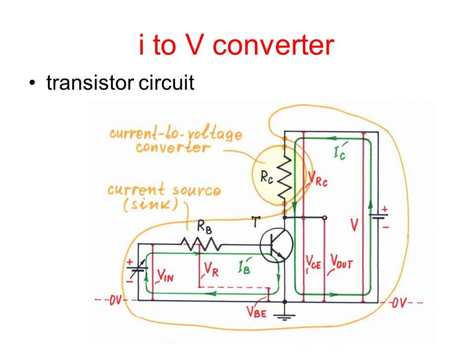 i to V converter transistor circuit