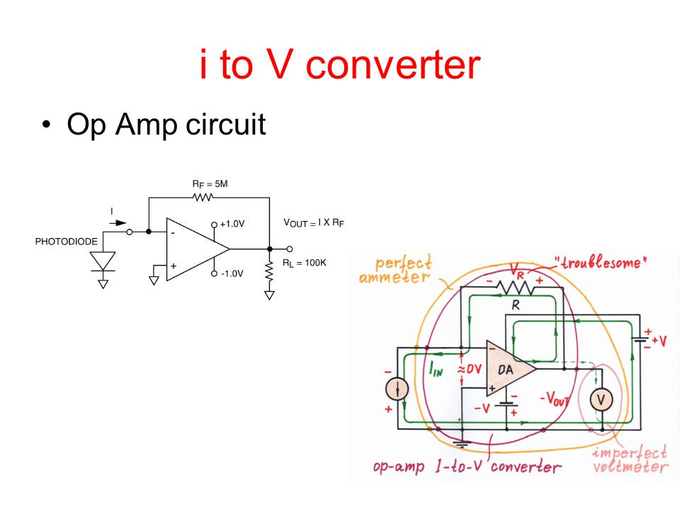 i to V converter Op Amp circuit