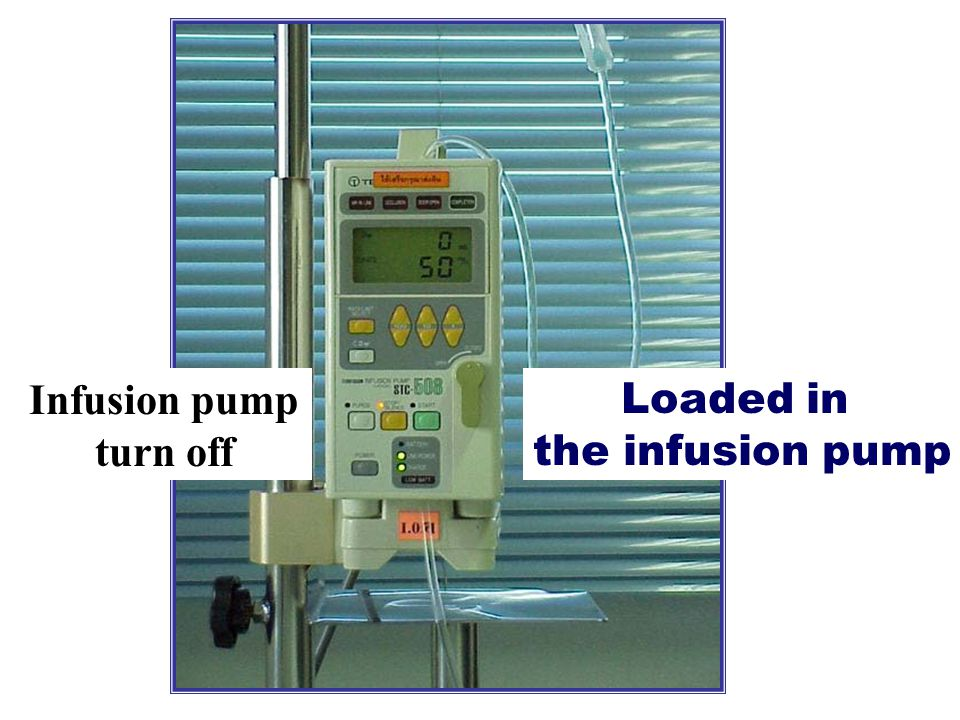 Infusion pump turn off Loaded in the infusion pump