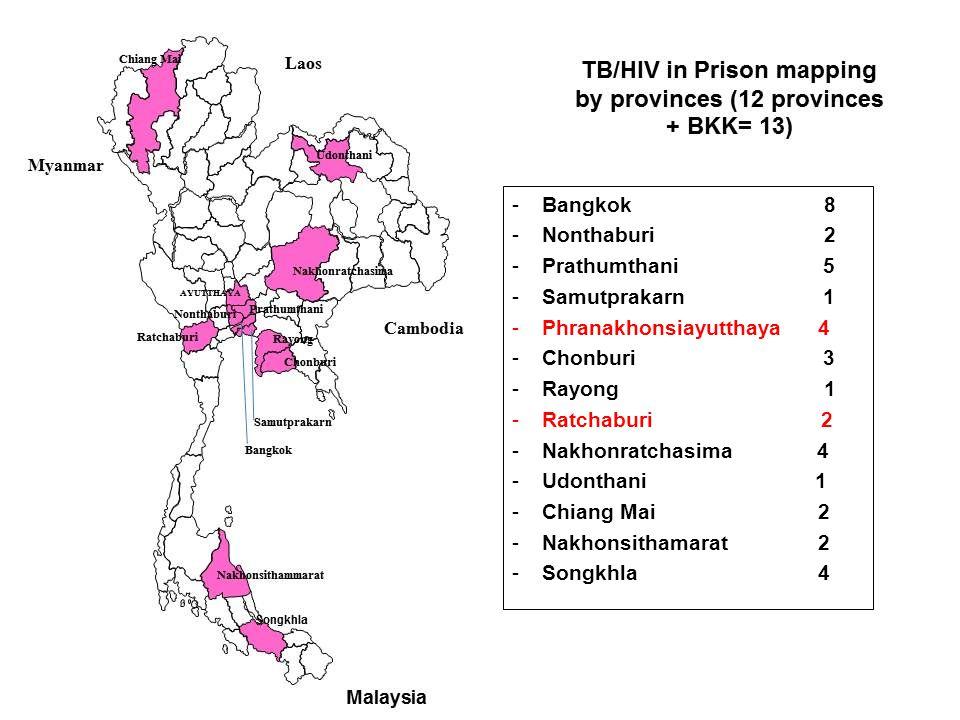 Bangkok 8 Nonthaburi 2. Prathumthani 5.