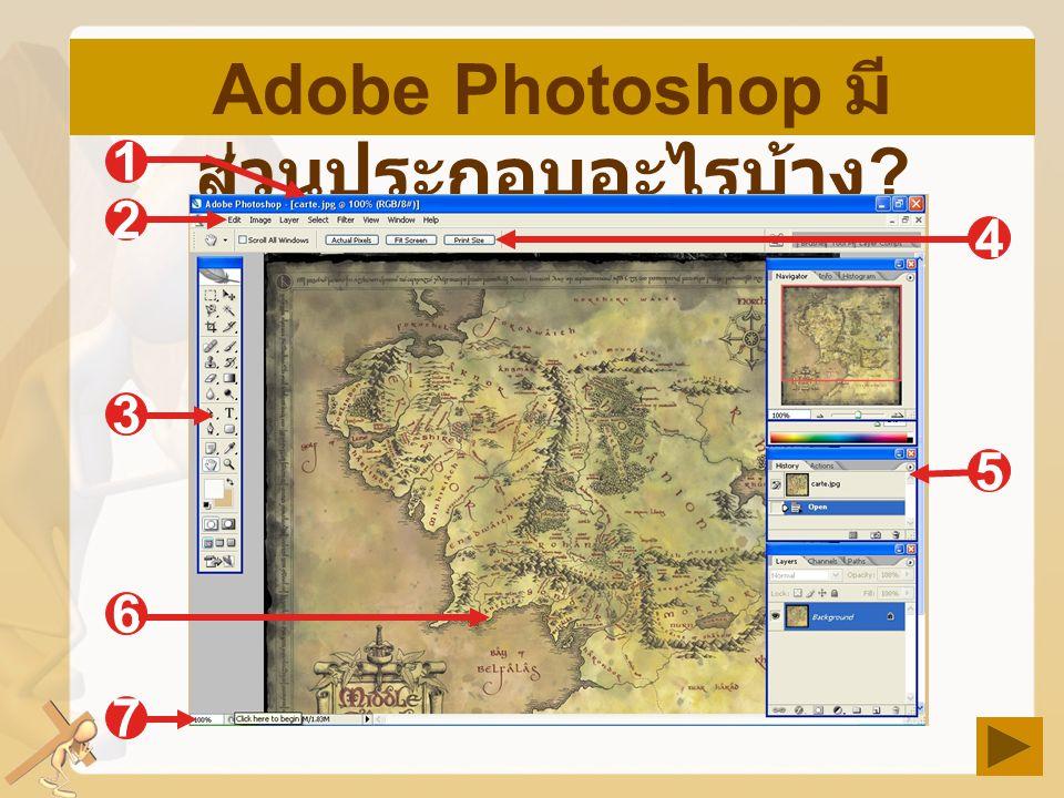 Adobe Photoshop มีส่วนประกอบอะไรบ้าง