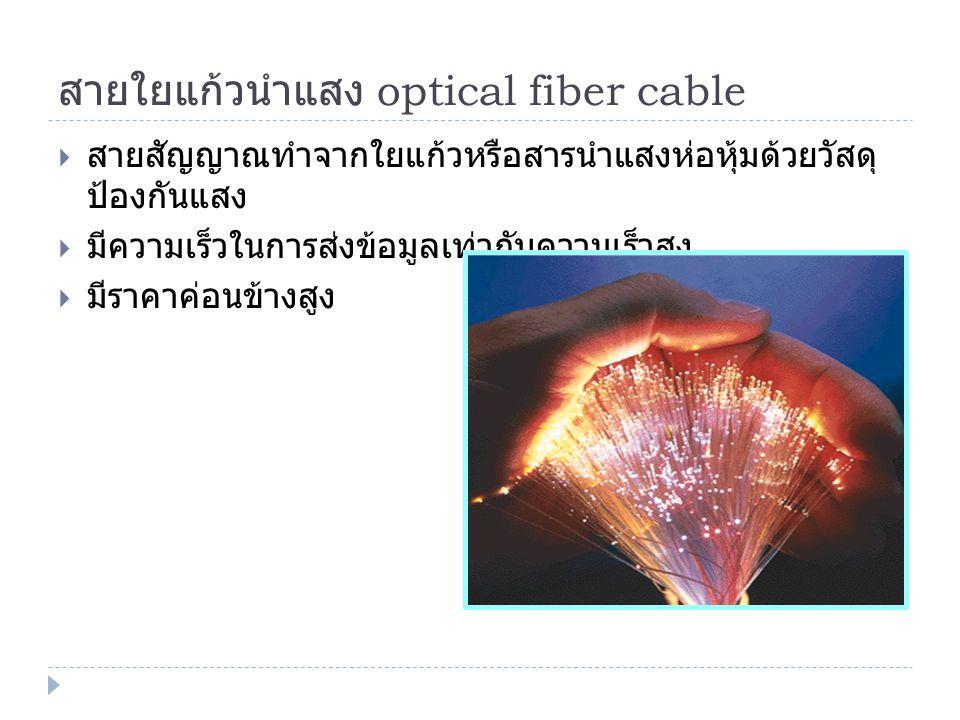 สายใยแก้วนำแสง optical fiber cable