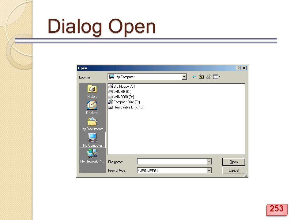 Dialog Open