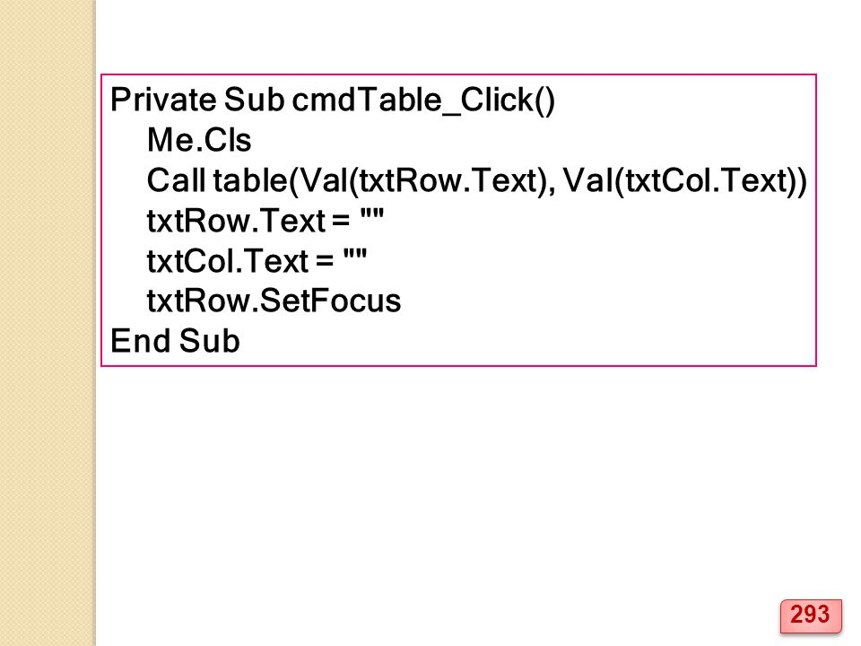 Private Sub cmdTable_Click()