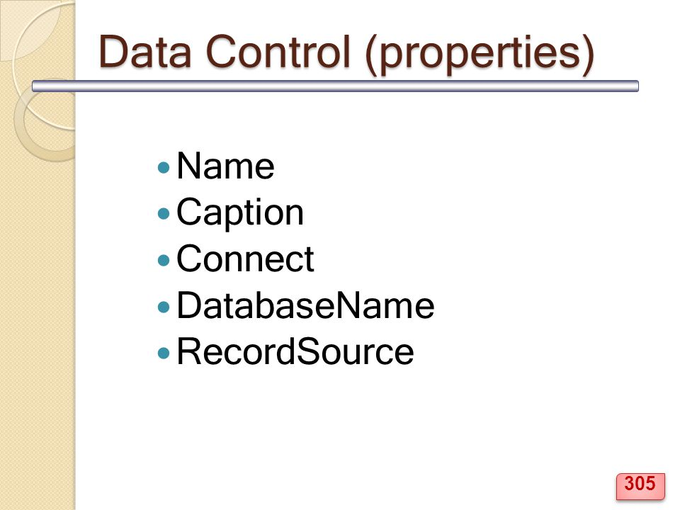 Data Control (properties)