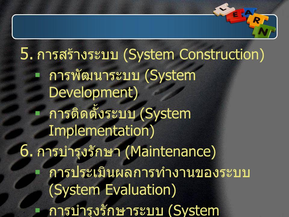 การสร้างระบบ (System Construction)