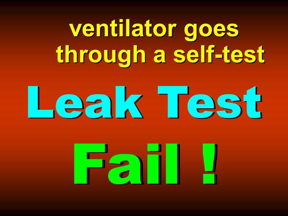 ventilator goes through a self-test