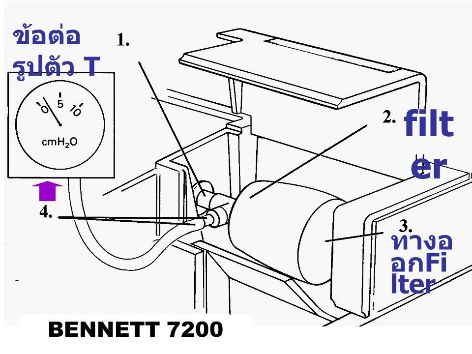 ข้อต่อรูปตัว T filter ทางออกFilter BENNETT 7200