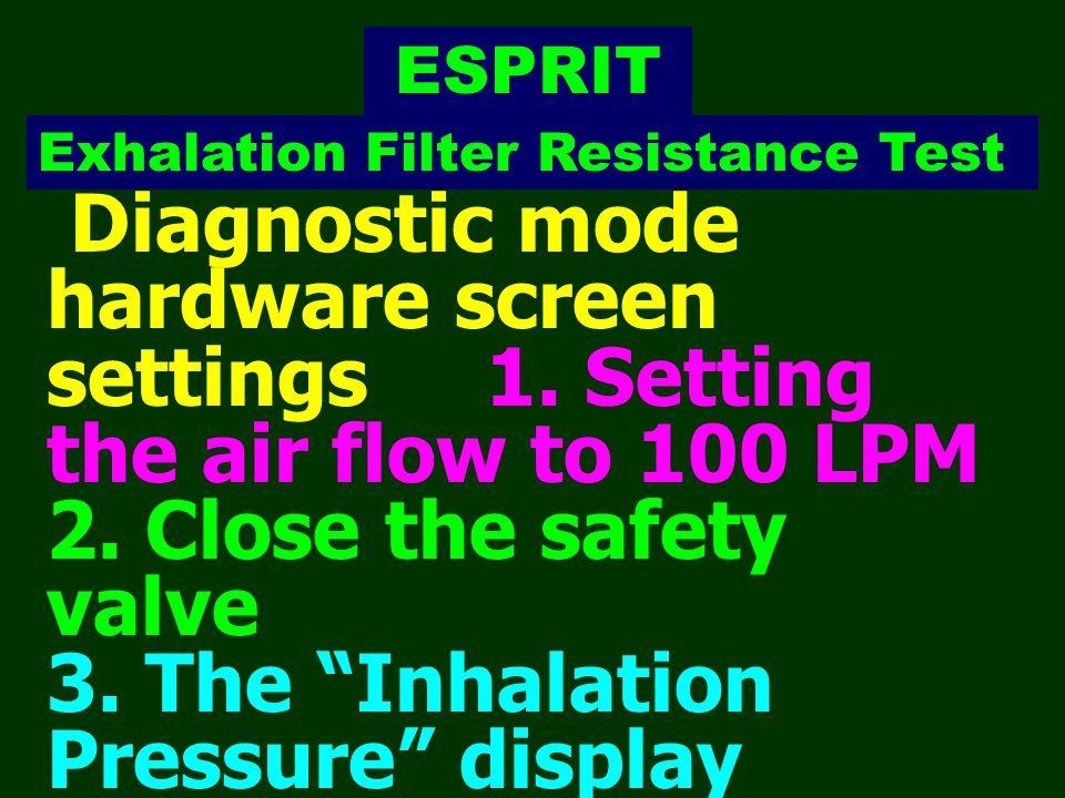 ESPRIT Exhalation Filter Resistance Test.