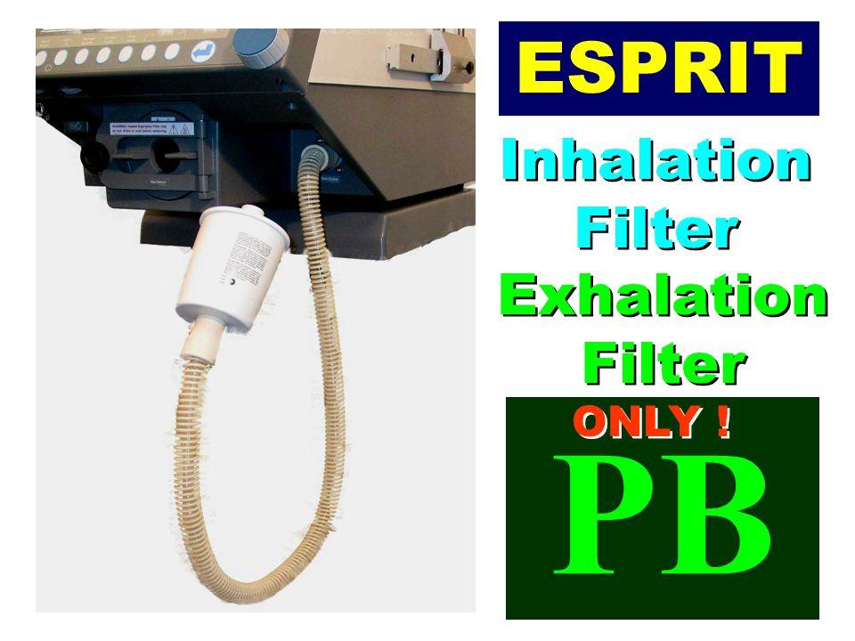 ESPRIT Inhalation Filter Exhalation Filter ONLY ! PB