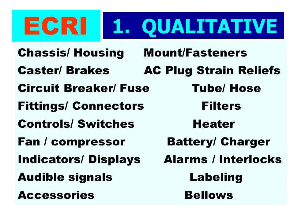 ECRI 1. QUALITATIVE TESTS