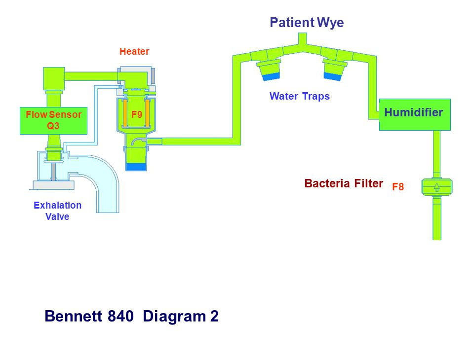 Bennett 840 Diagram 2 Patient Wye Humidifier Bacteria Filter