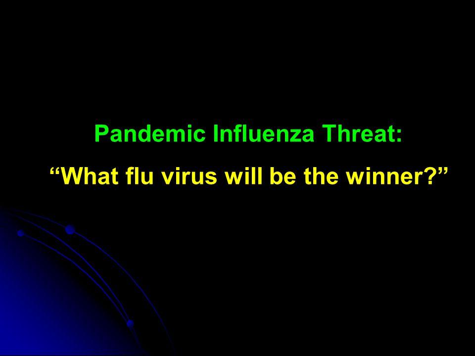 Pandemic Influenza Threat: What flu virus will be the winner