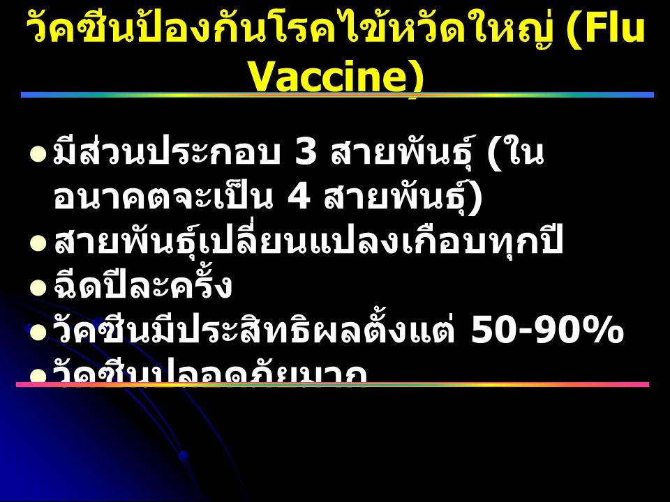 วัคซีนป้องกันโรคไข้หวัดใหญ่ (Flu Vaccine)