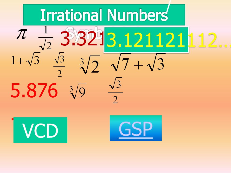 Irrational Numbers Symbol (Q)
