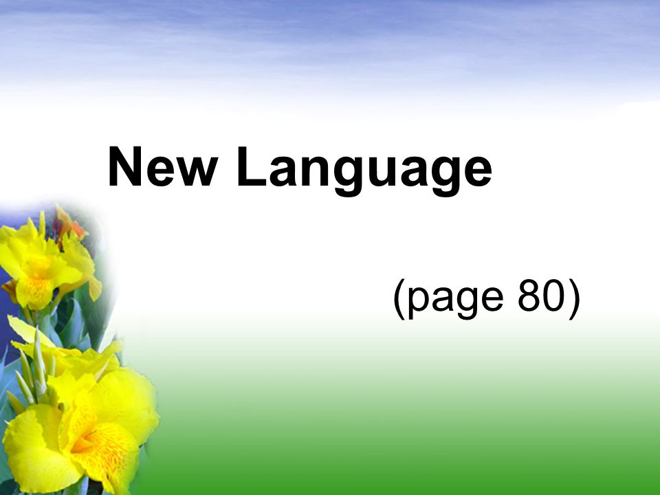 New Language (page 80)