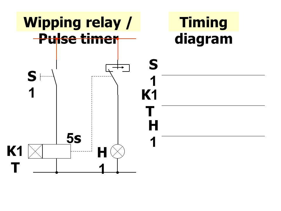 Wipping relay / Pulse timer