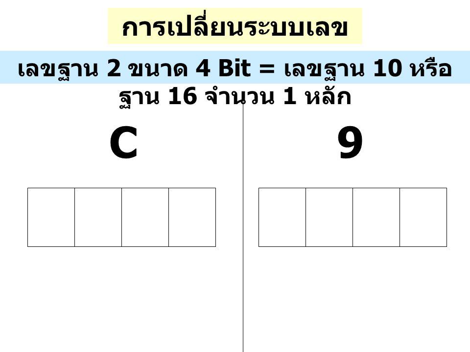 C 9 การเปลี่ยนระบบเลขฐาน