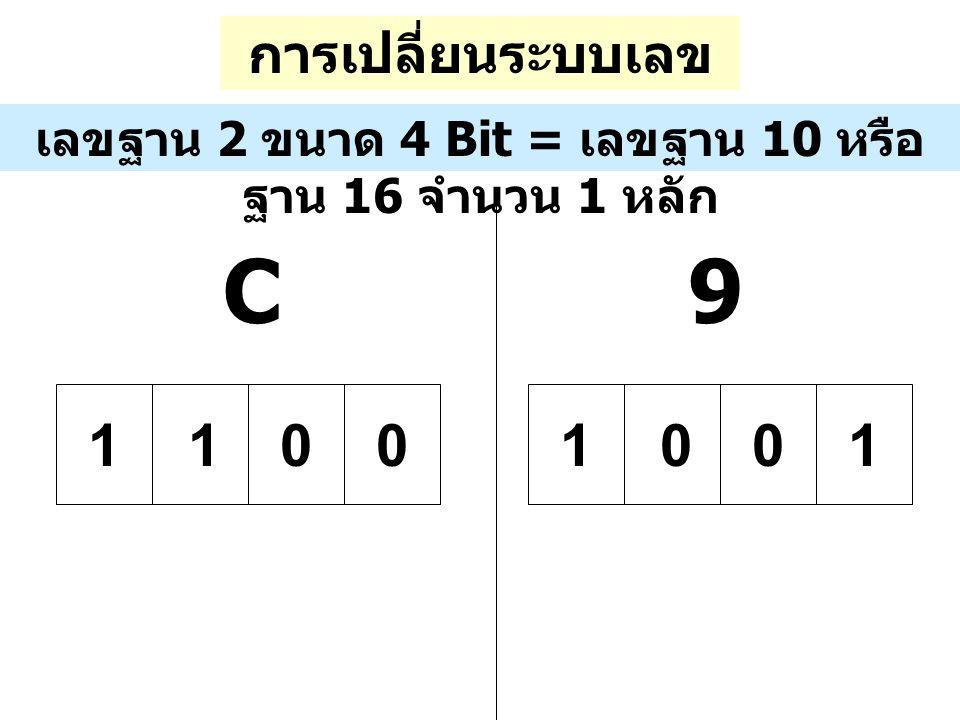 C 9 1 1 การเปลี่ยนระบบเลขฐาน