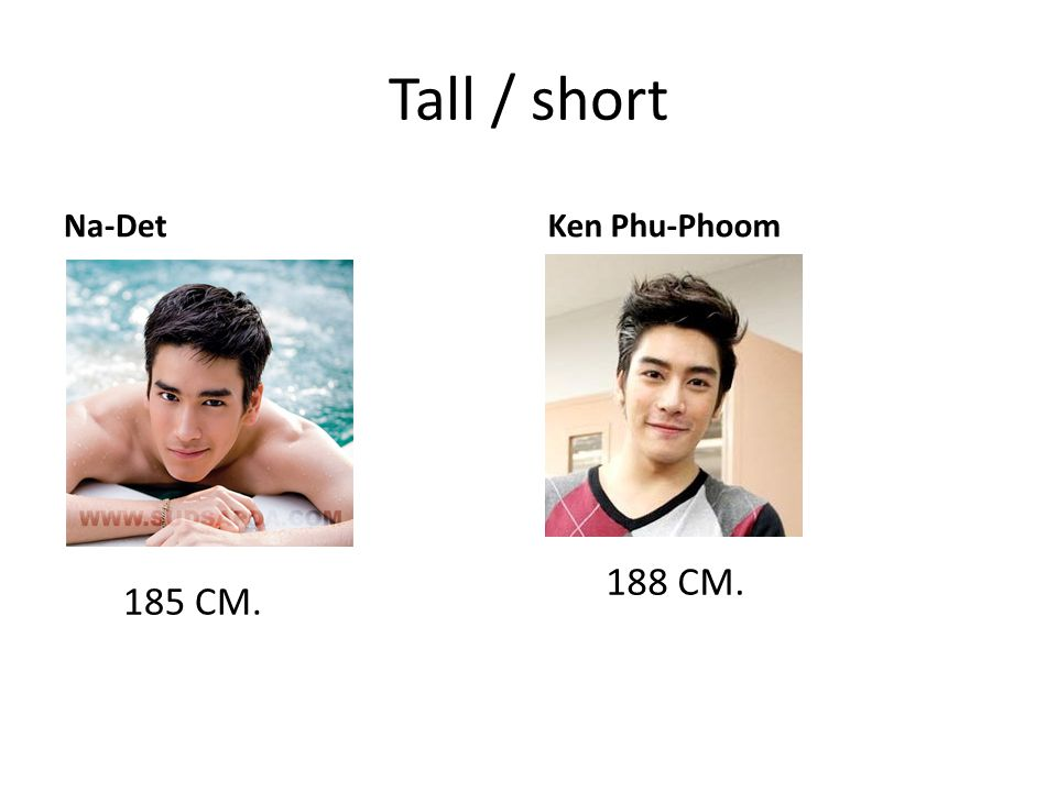 Tall / short Na-Det Ken Phu-Phoom 188 CM. 185 CM.