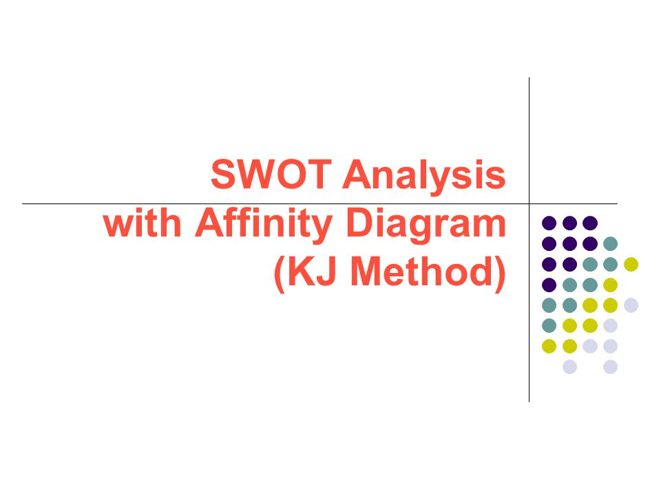 SWOT Analysis with Affinity Diagram (KJ Method)