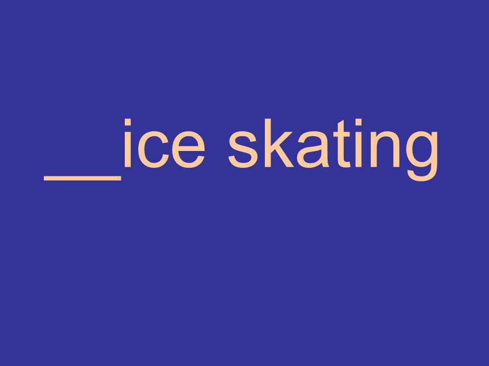 __ice skating