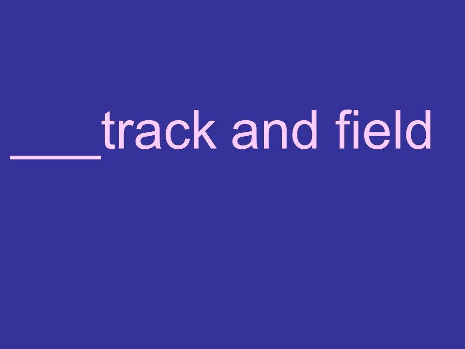 ___track and field