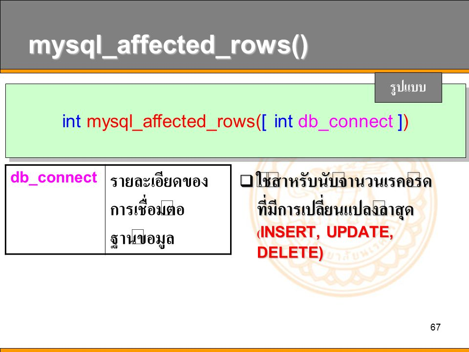 mysql_affected_rows()