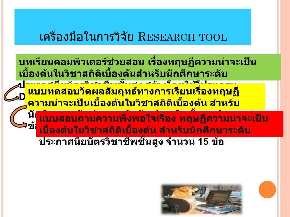 เครื่องมือในการวิจัย Research tool