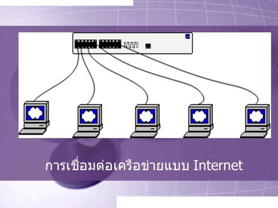 การเชื่อมต่อเครือข่ายแบบ Internet