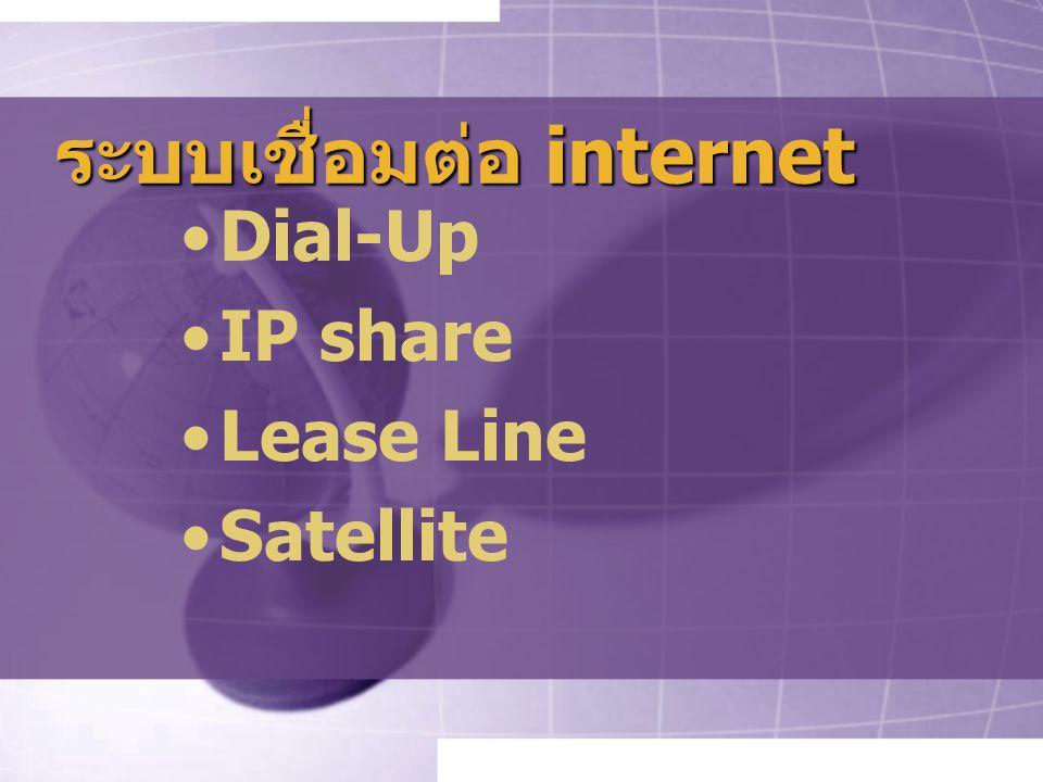 ระบบเชื่อมต่อ internet