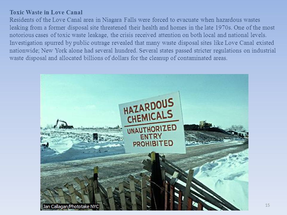 Toxic Waste in Love Canal