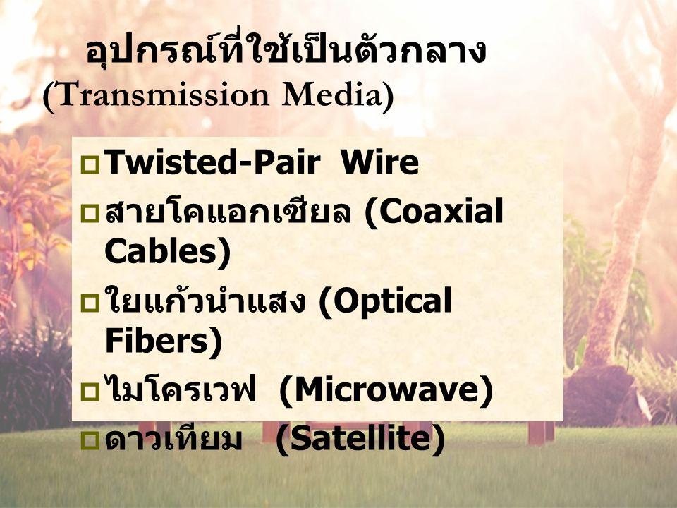 อุปกรณ์ที่ใช้เป็นตัวกลาง (Transmission Media)