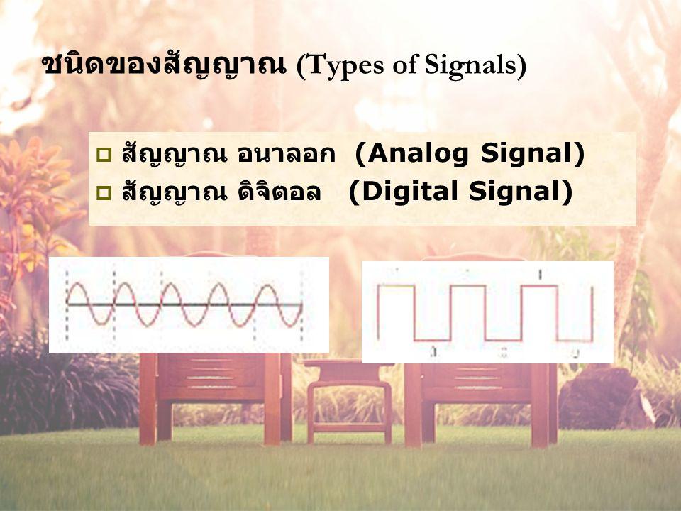 ชนิดของสัญญาณ (Types of Signals)