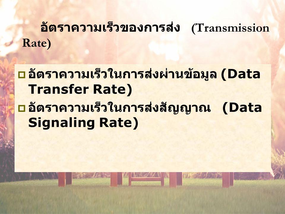 อัตราความเร็วของการส่ง (Transmission Rate)